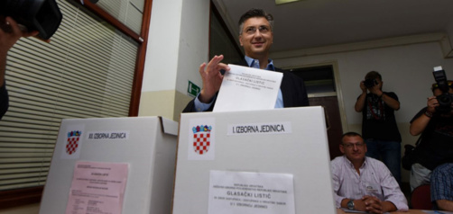 Andrej Plenkovic vote pour la victoire (photo HDZ)