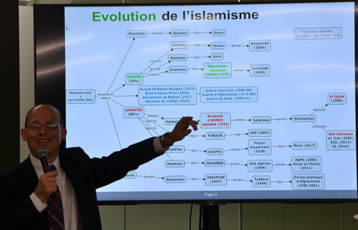 Mathieu Guidère compare l'histoire du Christianisme à celle de l'Islam (photo : F.Dubessy)