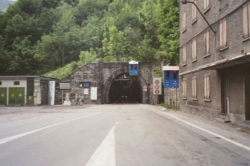 L'entrée du tunnel de Tende côté italien (photo DR)