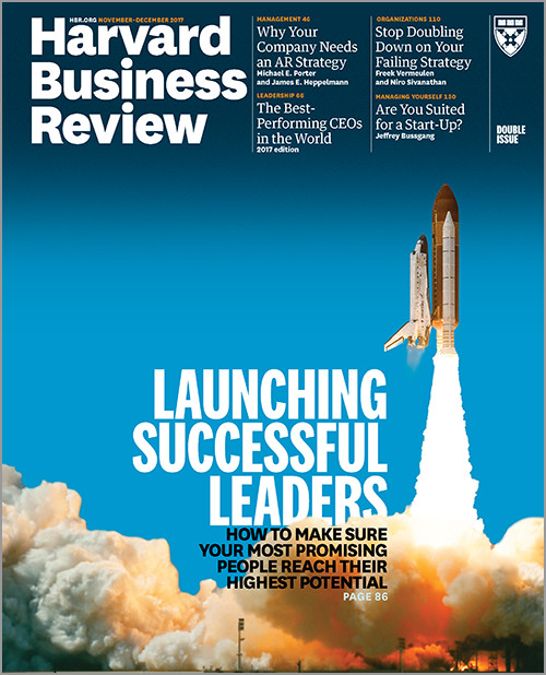 La Harvard Business Review distingue les patrons les plus performants au monde (photo : couverture HBR)