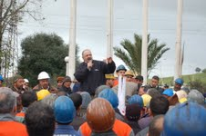 Meeting de ce matin au niveau d'Arcelor Mittal Annaba (photo DR)