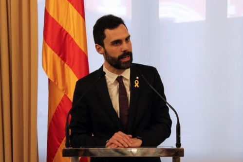 Roger Torrent recule mais ne veut pas céder (photo : Parlement de Catalogne)