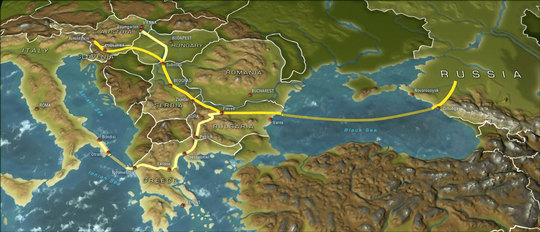 Le projet concurrent South Stream traversera la mer Noire (photo South Stream) CLIC pour agrandir la carte