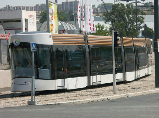 Peu de tramways à Marseille. Photo GT.