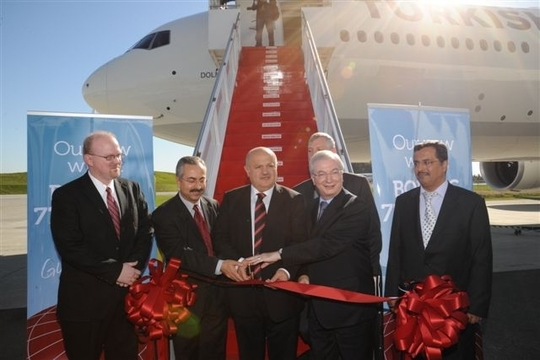 Turkish Airlines reçoit le premier des douze Boeing 777 - 300 attendus (photo Turkish Airlines)