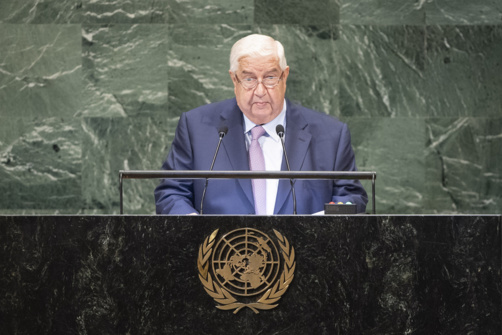 Walid al-Moualem exige le retrait de la coalition internationale de son pays (photo : Onu)