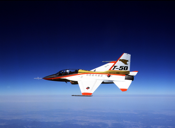 Golden Eagle T-50, des industries aérospatiales coréennes. Photo(DR)