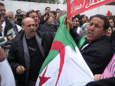 Sit-in du SNPSP (photo archives SNPSP)