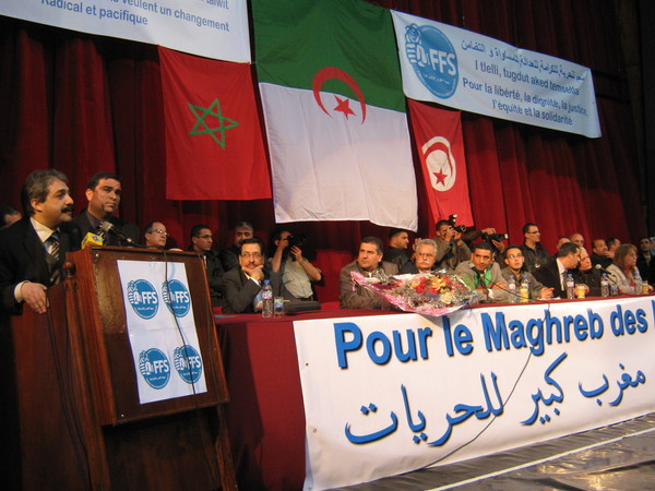 Meeting du FFS à la salle Atlas à Alger(photo AB)