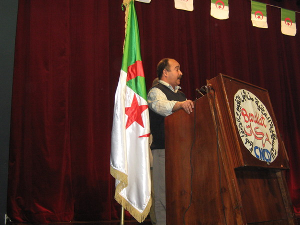 Kaddour Chouicha, militant syndical universitaire d'Oran (photo AB)
