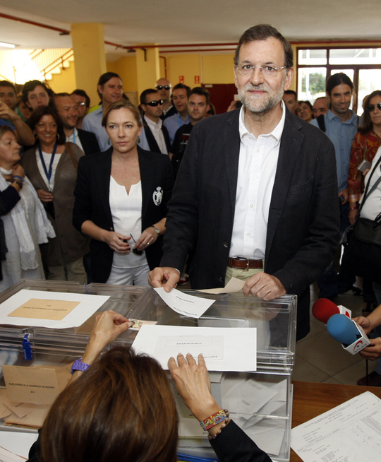 Le leader du Partido Popular, Mariano Rajoy, grand vainqueur du scrutin (photo : DR)