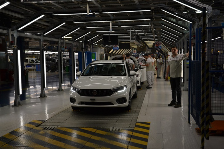 L'industrie automobile (ici l'usine FCA à Bursa) représente 17% des exportations totales turques (photo : F.Dubessy)