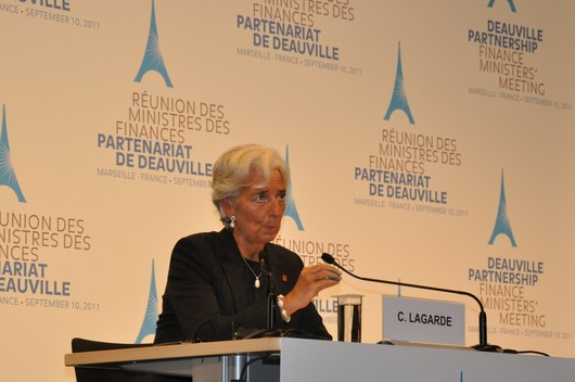 La présidente du FMI à Marseille, le 10 septembre 2011. (photo: CG)