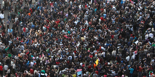 La population egyptienne retourne dans la rue. PHoto DR.