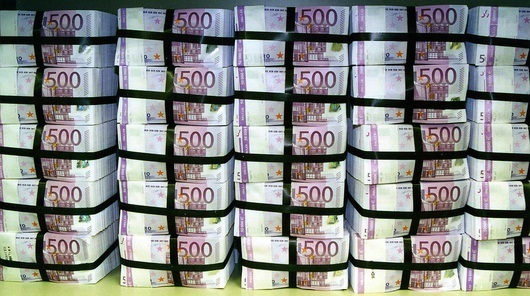 Billets de 500€ prêts à entrer en circulation (photo Bundesbank)