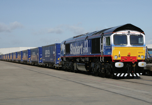 The number of trials concerning the transportation of fruit and vegetables by rail are increasing. (Stobart Group)