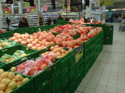 Around 7% of fruit and vegetables sold in supermarkets come from local production.  (N.B.C. Photo)