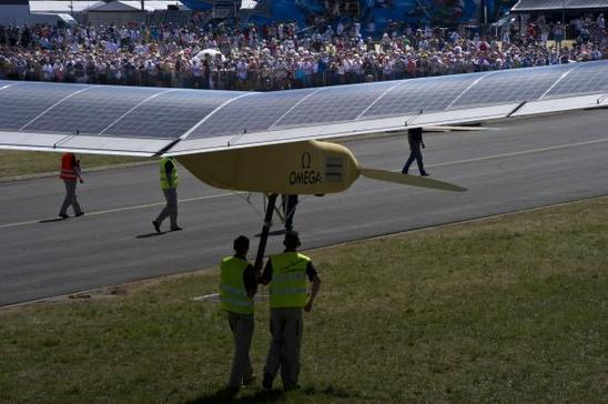 Lors du Paris Air Show du Bourget en 2011, le Solar Impulse était en représentation (photo Solar Impulse)