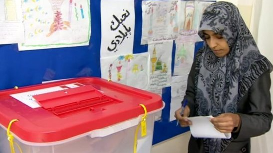 Une Libyenne votant aux élections locales de Misrata (photo Libya-index)