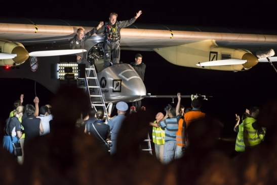 L'arrivée à Ouarzazate du Solar Impulse (photo Solar Impulse)