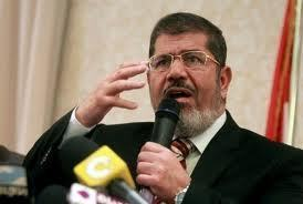 Mohamed Morsi marque son territoire (photo DR)