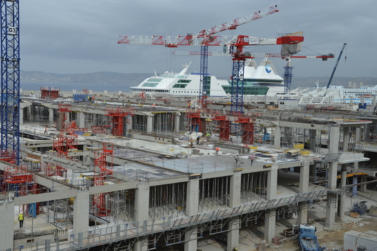 Le chantier des Terrasses du port sera livré au printemps 2014 (photo F.Dubessy)