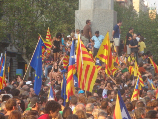 Lors de la manifestation du 11 septembre 2012 dans la capitale catalane (photo FM)