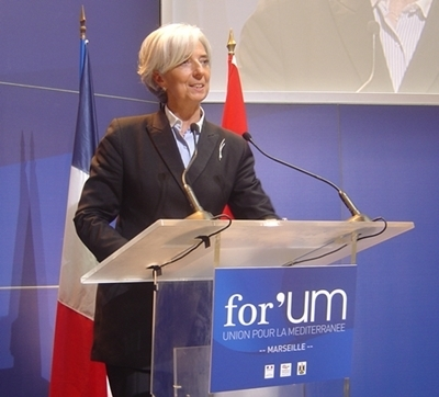 Christine Lagarde entend rester à son poste de directrice générale du FMI (photo F.Dubessy)