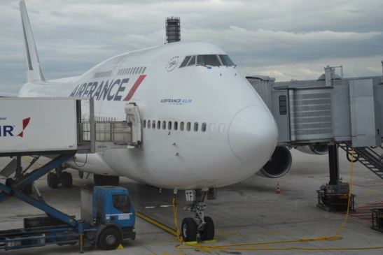 Boeing 747 - 400 d'Air France à CDG (photo F.Dubessy)