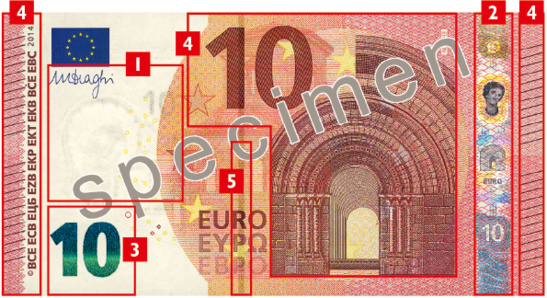 recto du futur billet de 10 € (photo BCE)