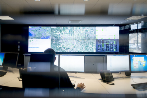 Le Smart Operation Center au Pecq (photo Suez Environnement)