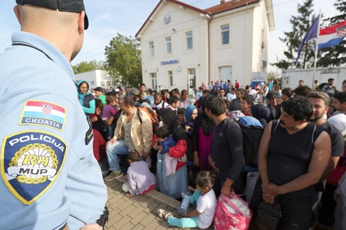 La Croatie fait face à un afflux de migrants (photo gouvernement croate)