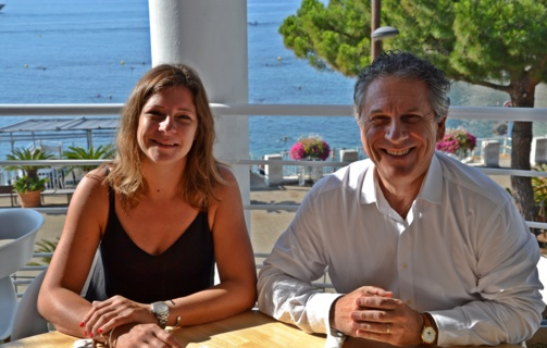 Giancarlo Fagiano et sa fille Alexandra, directrice des opérations d'Emyg (photo F.Dubessy)