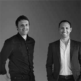 Thierry Petit et David Dayon co-fondateurs et CEOs de Showroomprivé s'implantent en Italie (photo : Showroomprivé)