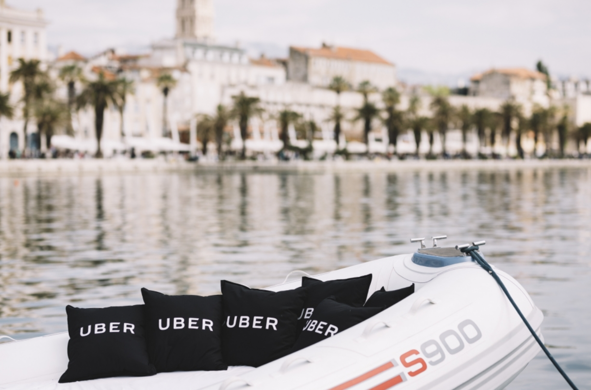 UberBoat arrive en Croatie. (Photo Uber)