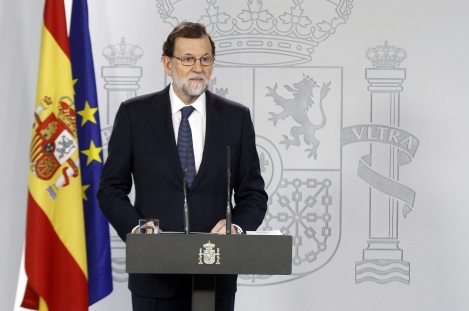 Mariano Rajoy lors de son allocution (photo : Pool Moncloa/José Maria Cuadrado)