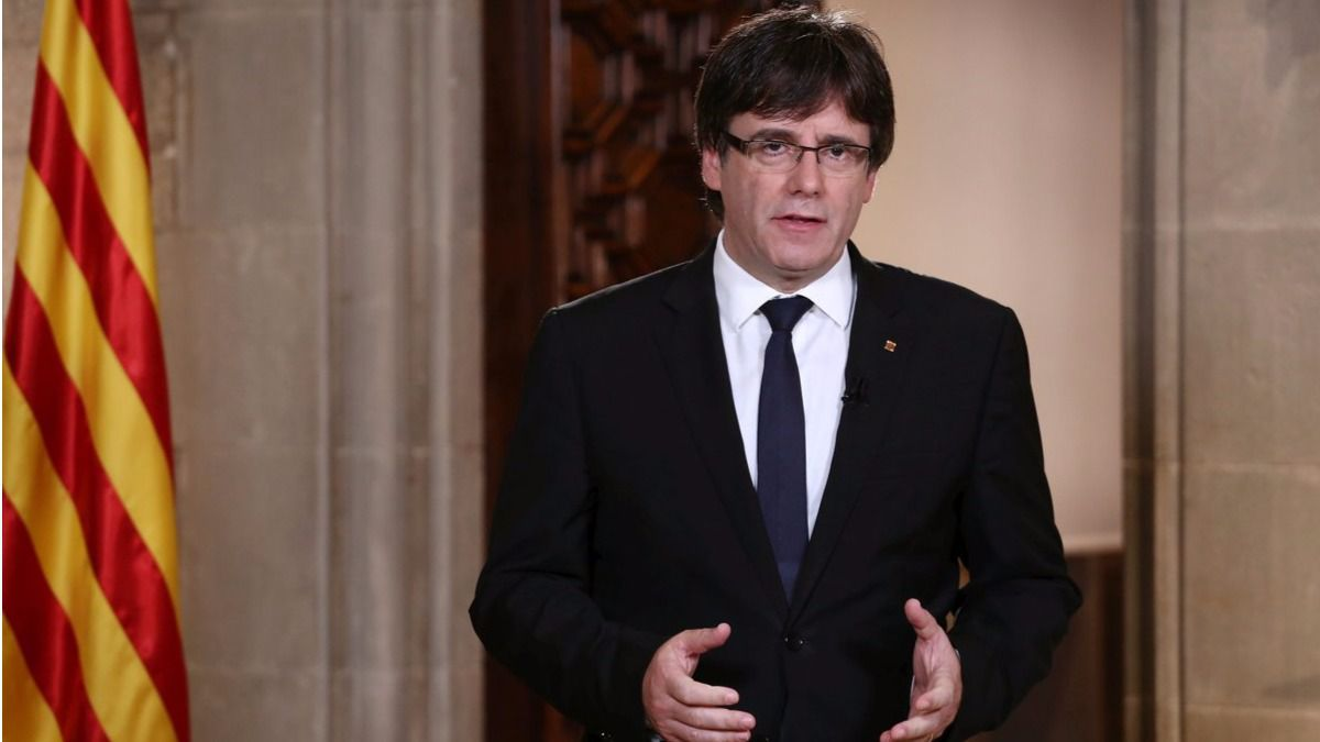 Comparution officielle de Carles Puigdemont le 28 octobre pour demander une « opposition démocratique» contre l'application de l'article 155 (Photo : DR)