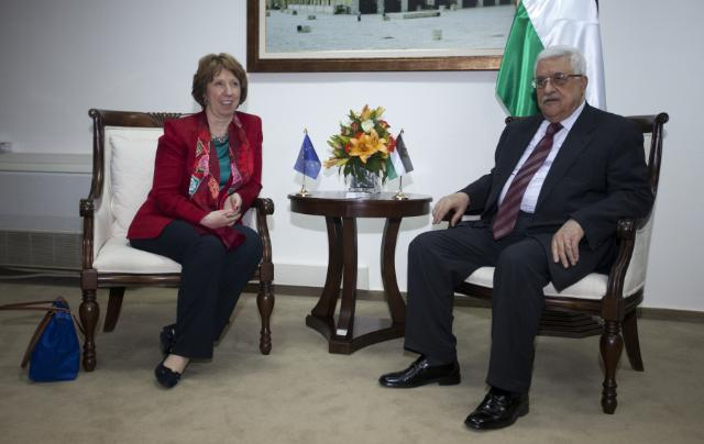 Catherine Ashton et Mahmoud Abbas (photo Union européenne)