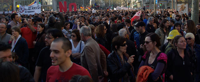 Manifestation contre la pauvreté à Barcelone (photo FM)