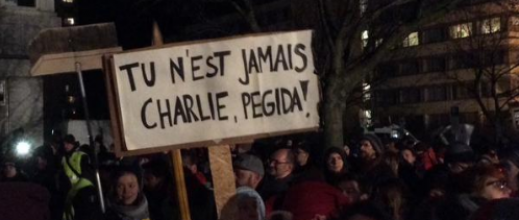 Manifestation de Pegida contre les assassinats des membres de Charlie Hebdo (photo Facebook Pegida)