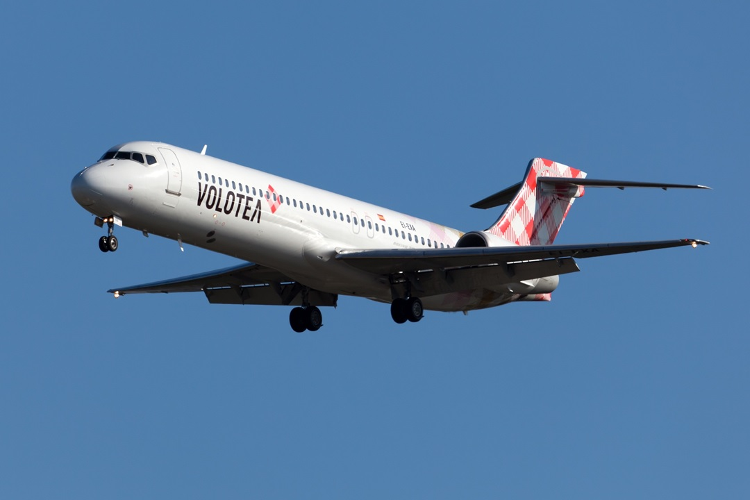 Une flotte composée exclusivement d'avions Boeing 717 (photo Volotea)