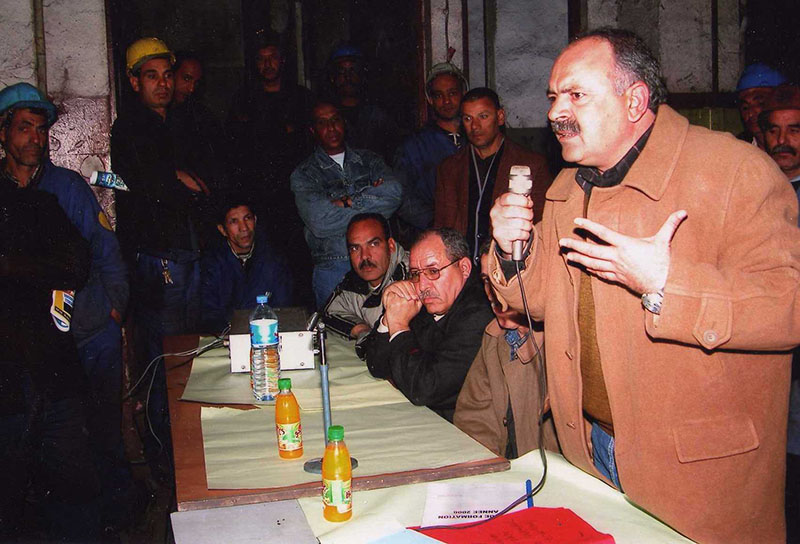 Smain Kouadria lors d'un meeting (photo DR)