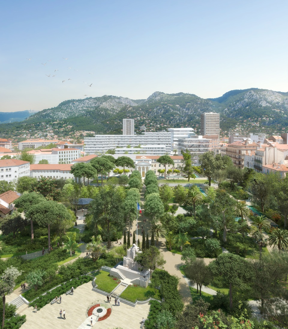 Le site de l'hôpital Chalucet à Toulon après sa requalification (photo Vezzoni & Associés)