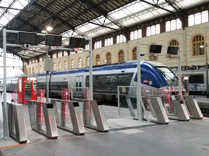 Le dispositif proposé par Xerox en testés à Marseille (photo SNCF)