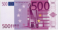 La zone euro se dirige vers une probable disparition du billet de 500€. (Photo rapport Europol).