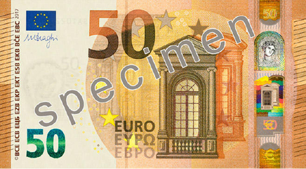 Le nouveau billet de 50 euros sera en circulation en avril 2017 (photo BCE)